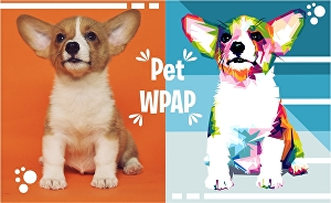 I will draw your animal pet into WPAP pop art style