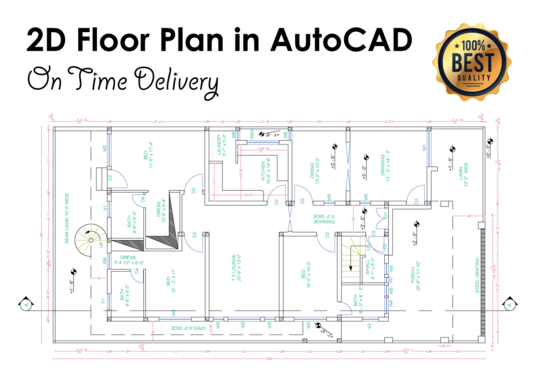 Draw floor plan in autocad for £15