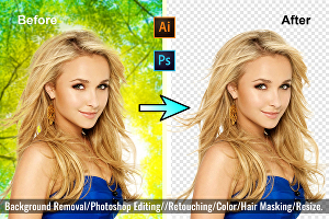 I will do professional photoshop editing and background removal