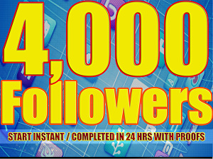 I will Give you 4,000+ Twitter Followers Will be Added to Your Account