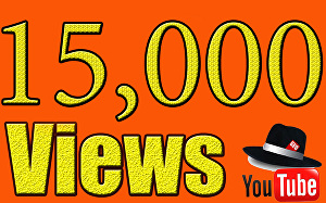 I will Give You High Quality 15,000+YOUTUBE views