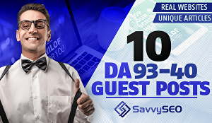 I will Publish 1-10 Guest Posts - DA 93-40 on Real Websites