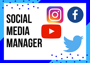 I will be Your Social Media Manager & Assistant