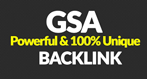 I will Create 400,000 Authority Quality GSA SER Verified Backlinks