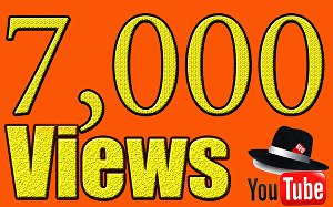 I will Give You High Quality 7,000+YOUTUBE views