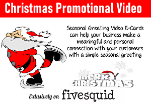 I will create this promotional  christmas greeting video
