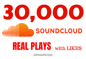 I will bring 30,000 Real SoundCloud Plays