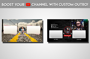 I will Design An Outstanding Youtube Outro In 24 Hours
