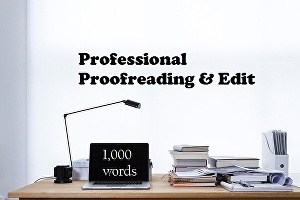 I will professionally proofread and edit up to 1,000 words of text for your website, blog or arti