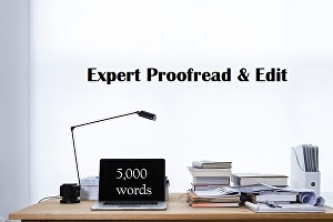 I will professionally proofread and edit up to 5,000 words of your article or story