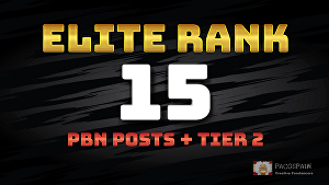I will Elite Rank - 15 Homepage PBN posts with 1000 2nd Tier Backlinks