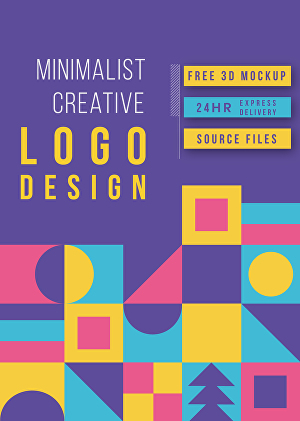I will be your minimalist and creative logo designer
