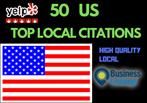 I will do 50 USA  local citation for your local business