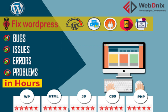 fix wordpress bugs, errors and issue within 24 hours
