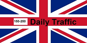 I will provide 150-250 daily UK traffic for one month