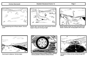 I will create a basic black and white storyboard for your animation, movie or script