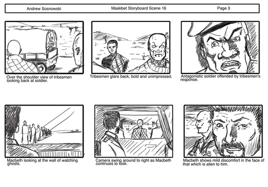 create a basic black and white storyboard for your animation, movie or script