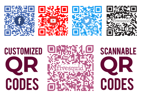 cccccc-create 2 custom scannable print ready QR codes with your logo