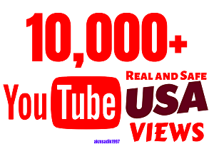 I will Provide 10,000+ USA YouTube Views with Engagements