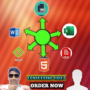 I will Convert your files to text format, pdf, png, doc, html