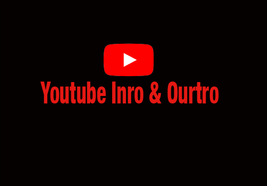create youtube intro and outro video