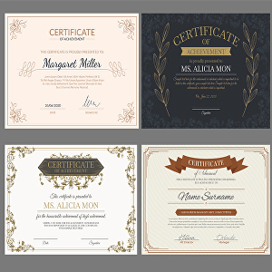 I will do professional certificate,  gift certificate, and award and diploma certificate design