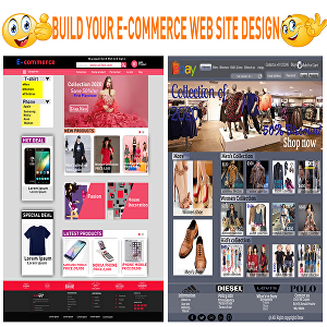 I will design e commerce website and UI design and PSD web templates
