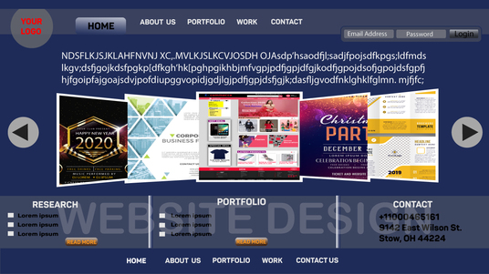 design e commerce website and UI design and PSD web templates