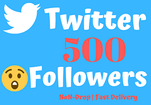 I will Give 500 Real & Active Twitter Followers ,Non-Drop, Fast Delivery