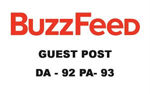 I will publish guest post on www.buzzfeed.com