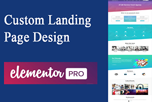 I will design a landing page or create a Website using elementor pro