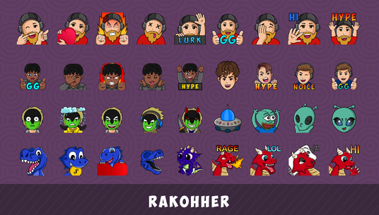create express custom twitch emotes, sub badges