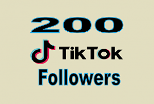 I will  Give you 200+ TikTok Followers Non Drop & High Quality – Instant Start