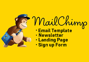 I will do mailchimp html email template or newsletter or landing page