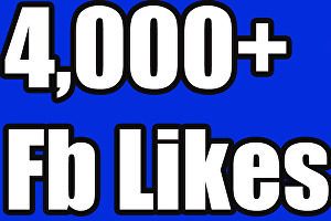 I will add 4000+ likes for your Fan Page