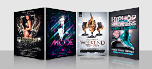 I will Do any kind of music, party, event, club any kind of flyers and posters