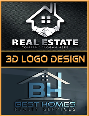 I will Design  3D logo