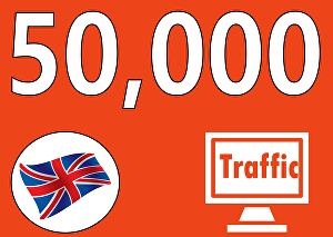 I will Drive 50,000 Search Engine UK Visitors with Proofs