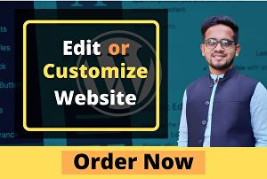 I will Edit or Customize your website