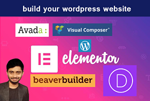 I will build your website using Elementor Pro, Beaver Builder, Visual Composer, Divi Builder