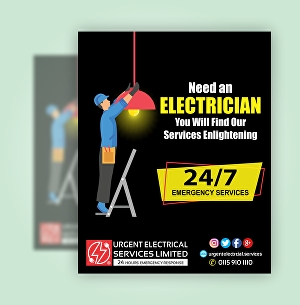 I will design flyer poster for electricians