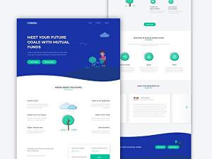 I will create modern landing page design using bootstrap