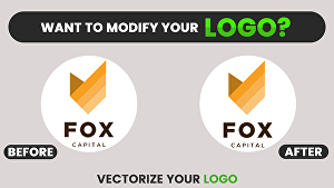 I will Modify, Resize, Redraw or Vectorize your logo