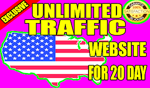 I will give you unlimited USA website traffic for 20 days