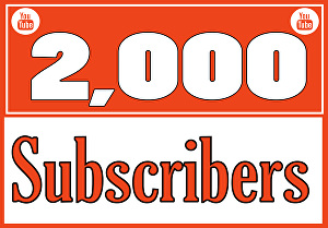 I will will give you 2000 youtube subscribers