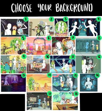 draw you in Rick and Morty style