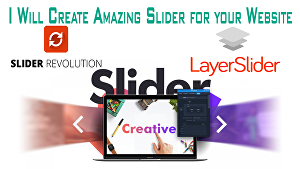 I will design professional website slider or banner for website