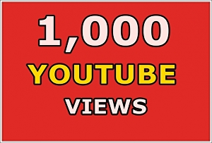 I will give 1,000 YouTube views real, permanent life time guarantee