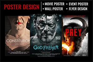 I will design a movie poster, film poster, movie posters