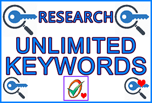 I will Do Keywords Unlimited Research Using Over 50 Top-Tier Search Platforms